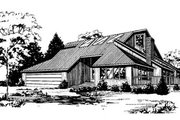 Contemporary Style House Plan - 3 Beds 2 Baths 1942 Sq/Ft Plan #60-110 Exterior - Front Elevation