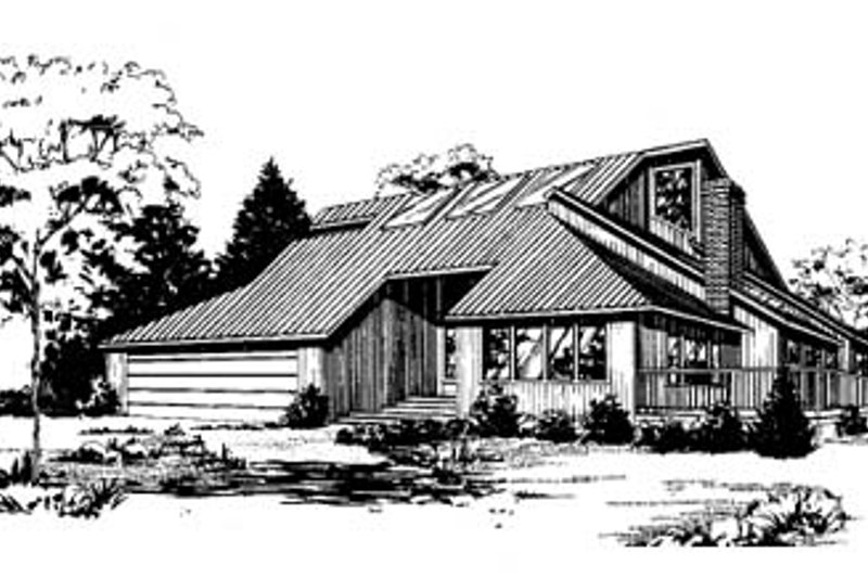 Contemporary Exterior - Front Elevation Plan #60-110 - Houseplans.com