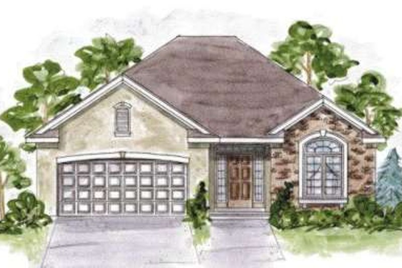 Traditional Exterior - Front Elevation Plan #20-1617