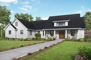 Contemporary Exterior - Front Elevation Plan #48-1000