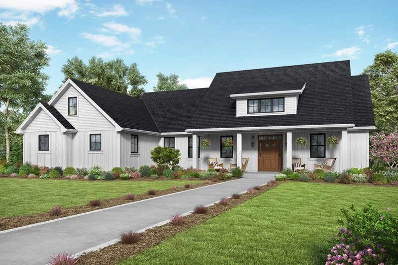 Home Plan - Contemporary Exterior - Front Elevation Plan #48-1000