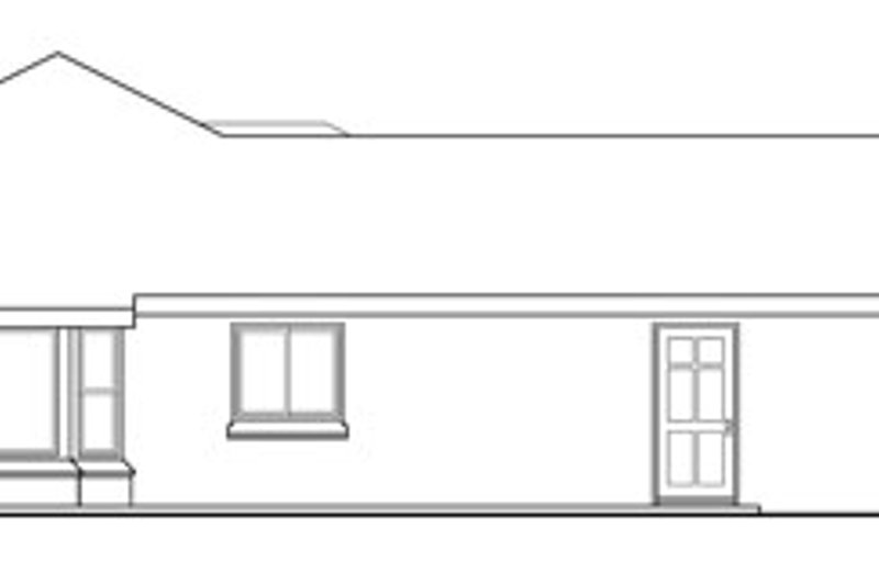 Traditional Exterior - Other Elevation Plan #124-734 - Houseplans.com