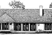 House Plan - 3 Beds 2 Baths 2189 Sq/Ft Plan #72-138 Exterior - Rear Elevation
