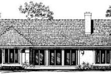 House Plan Design - Exterior - Rear Elevation Plan #72-138