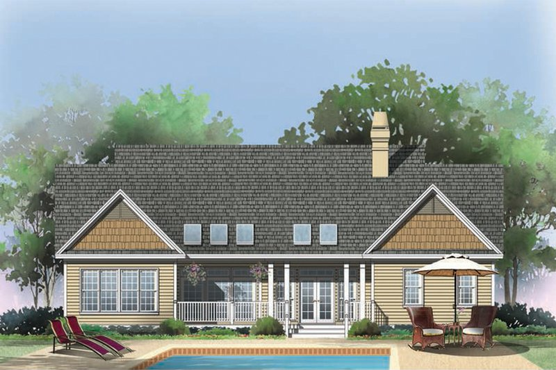 Traditional Exterior - Rear Elevation Plan #929-40 - Houseplans.com