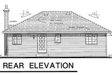 House Blueprint - Traditional Exterior - Rear Elevation Plan #18-167