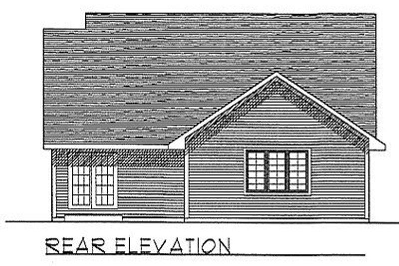 Traditional Exterior - Rear Elevation Plan #70-128 - Houseplans.com