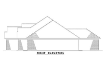 House Plan Design - European style home design, right elevation