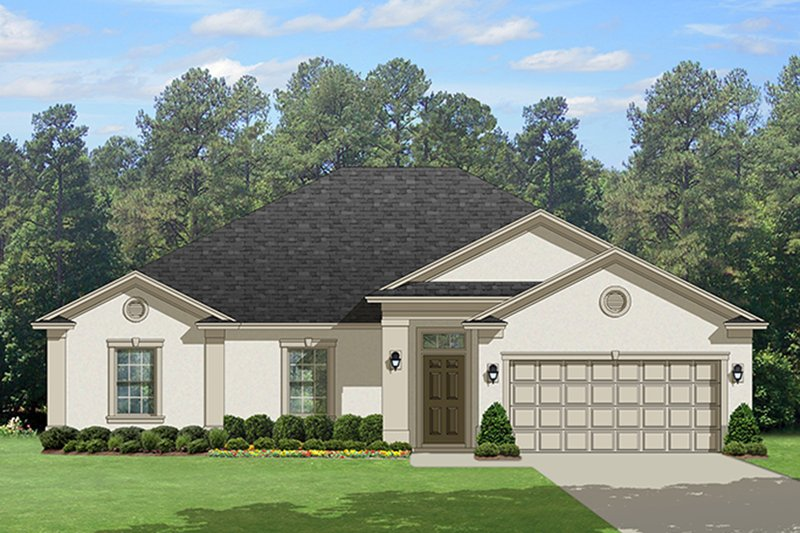 Dream House Plan - Traditional Exterior - Front Elevation Plan #1058-119