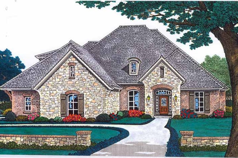 Country Exterior - Front Elevation Plan #310-1243