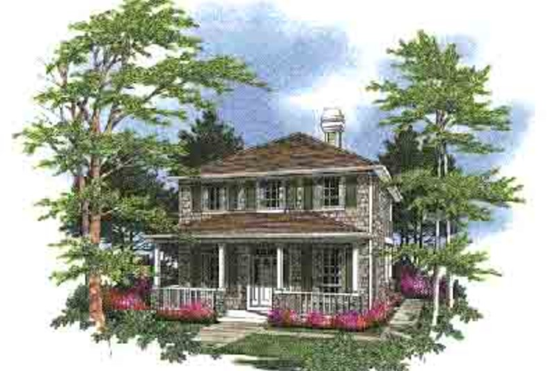 Traditional Exterior - Front Elevation Plan #48-194