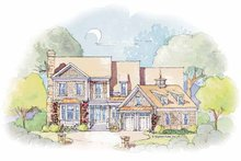 Home Plan - Colonial Exterior - Front Elevation Plan #429-355
