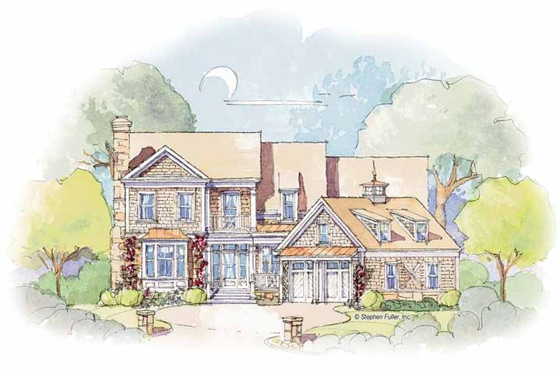 Colonial Exterior - Front Elevation Plan #429-355