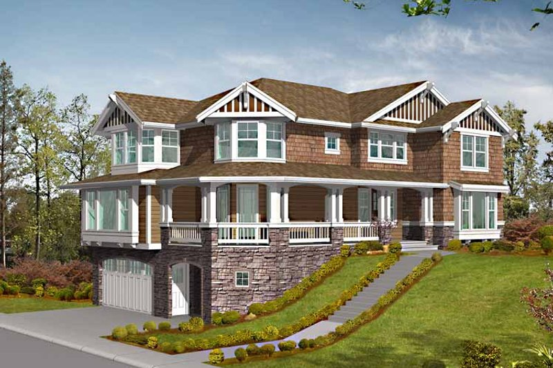 Craftsman Exterior - Front Elevation Plan #132-459 - Houseplans.com