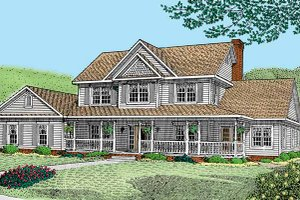 Victorian Exterior - Front Elevation Plan #11-258