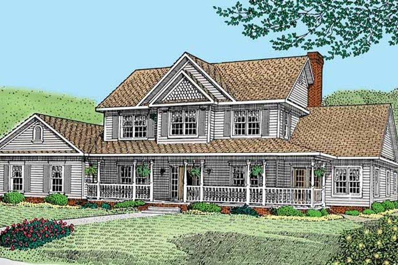 House Design - Victorian Exterior - Front Elevation Plan #11-258