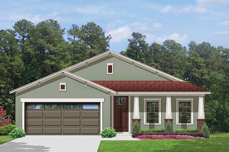 Craftsman Exterior - Front Elevation Plan #1058-71 - Houseplans.com