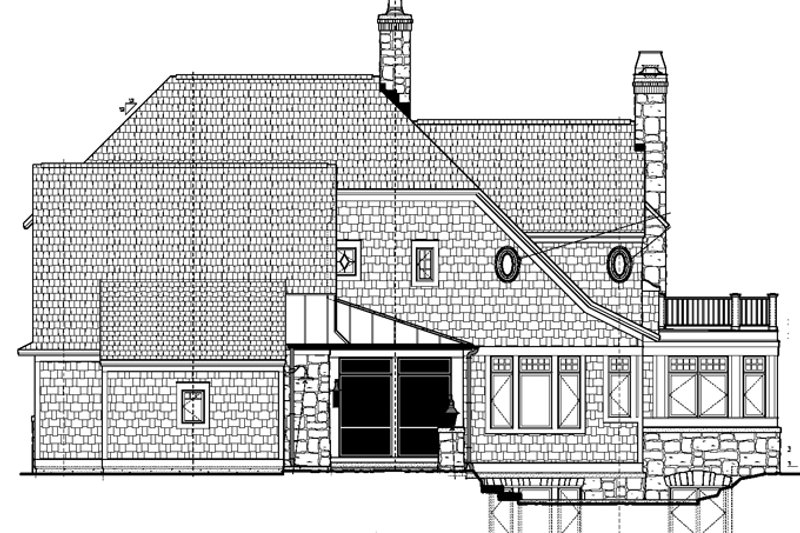 Craftsman Exterior - Rear Elevation Plan #928-185 - Houseplans.com