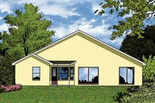 Architectural House Design - Mediterranean Exterior - Rear Elevation Plan #417-818