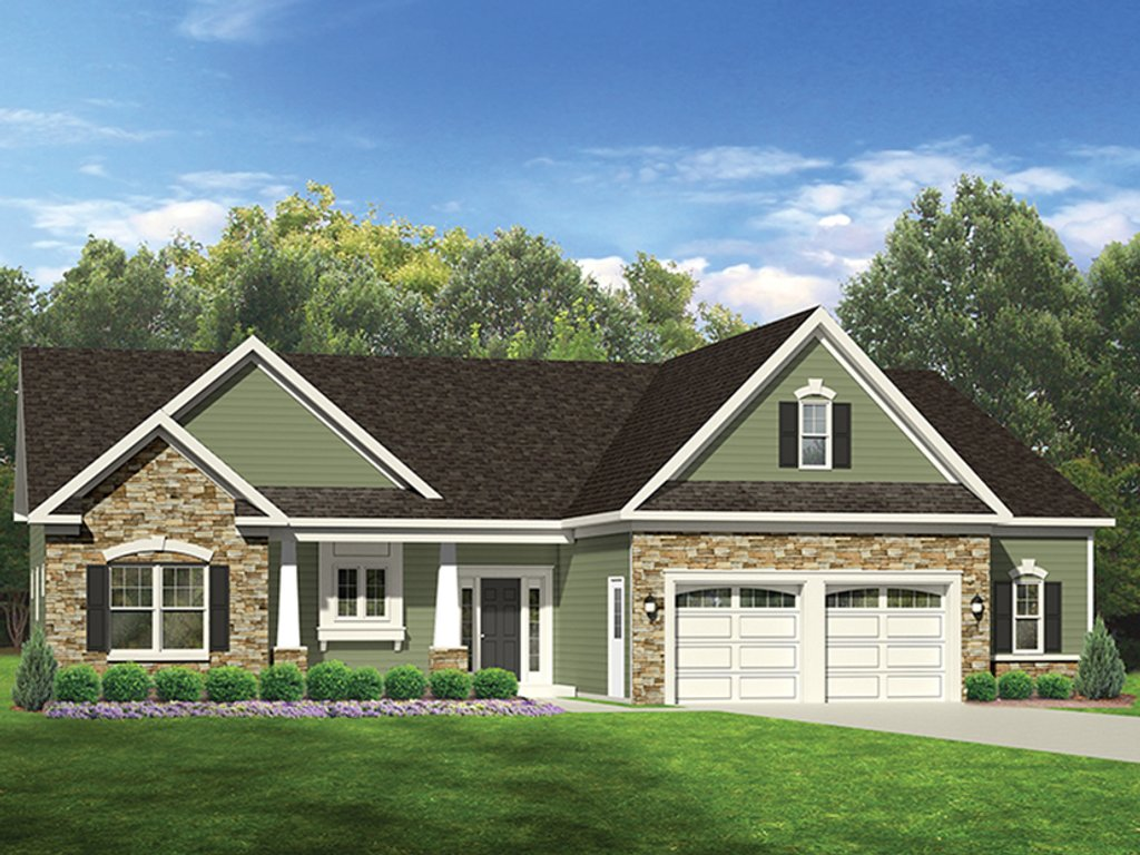 Ranch style house plan 3 beds 2 baths 1707 sq ft plan for Rambler house vs ranch house