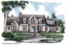 Country Exterior - Front Elevation Plan #929-722
