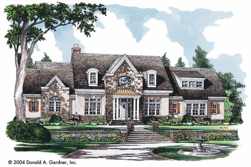 Home Plan - Country Exterior - Front Elevation Plan #929-722