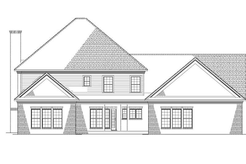 Colonial Exterior - Rear Elevation Plan #17-2803 - Houseplans.com