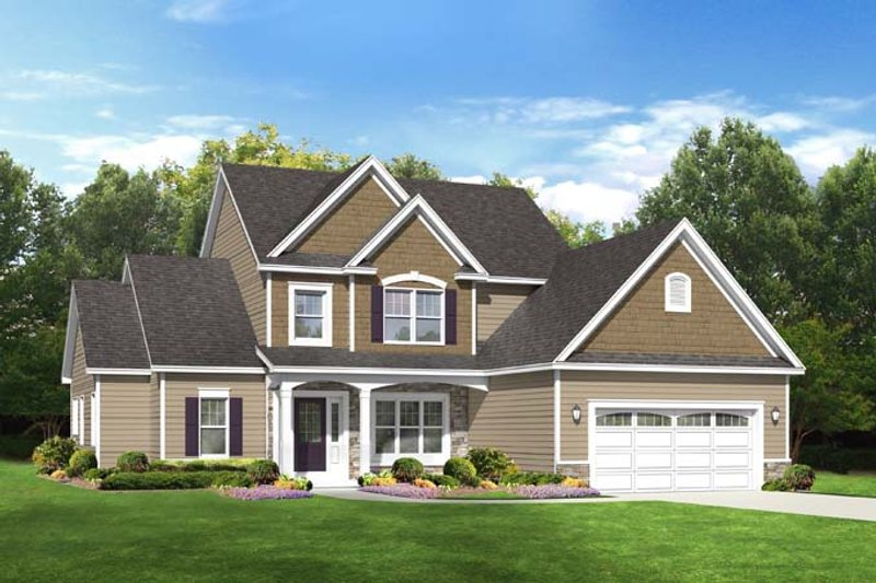 Traditional Exterior - Front Elevation Plan #1010-75 - Houseplans.com