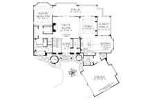 European Floor Plan - Main Floor Plan Plan #929-899