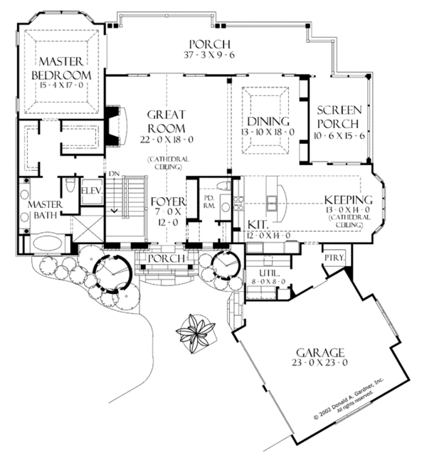 House Plan Design - European Floor Plan - Main Floor Plan #929-899