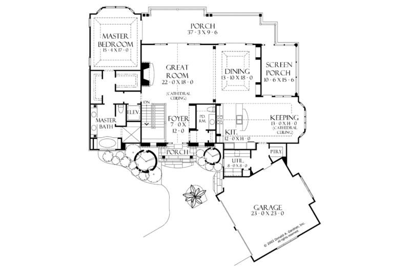 European Floor Plan - Main Floor Plan Plan #929-899