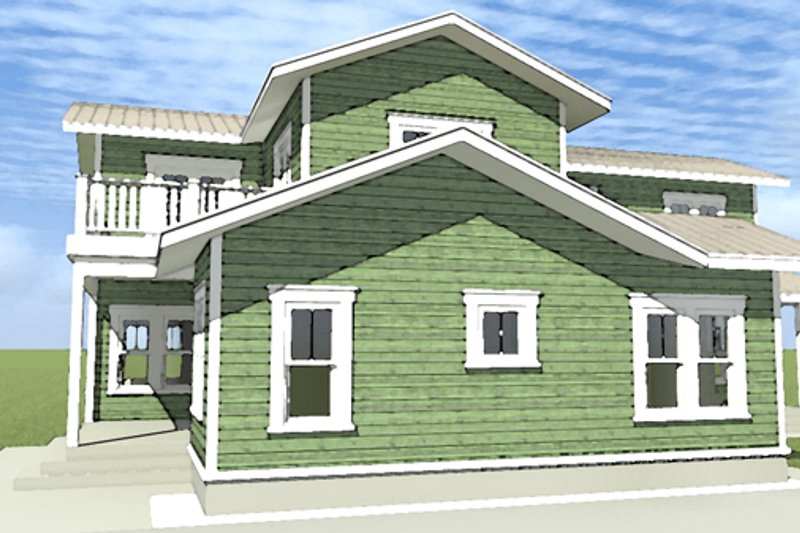 Country Exterior - Other Elevation Plan #64-289 - Houseplans.com