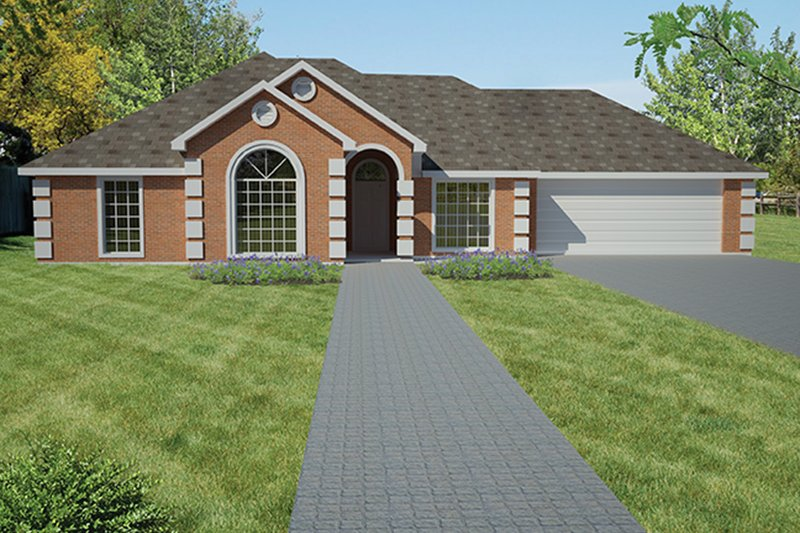 Traditional Exterior - Front Elevation Plan #1061-9
