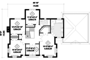 European Style House Plan - 4 Beds 2 Baths 3198 Sq/Ft Plan #25-4628 Floor Plan - Upper Floor Plan