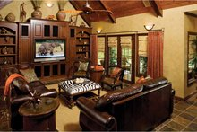 Architectural House Design - Craftsman Interior - Family Room Plan #929-422