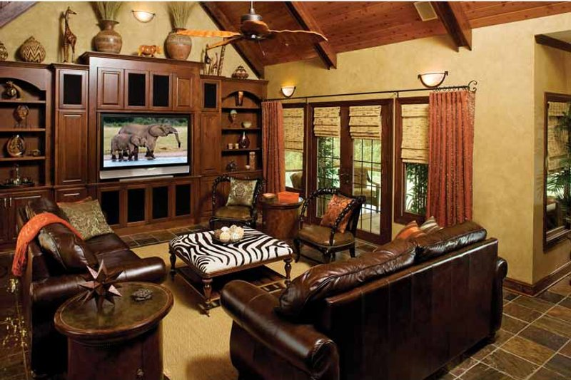 Craftsman Interior - Family Room Plan #929-422 - Houseplans.com