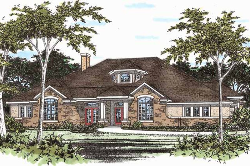Dream House Plan - Traditional Exterior - Front Elevation Plan #472-204