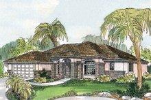 House Plan Design - Mediterranean Exterior - Front Elevation Plan #124-502