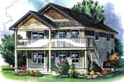 Traditional Style House Plan - 3 Beds 2 Baths 2220 Sq/Ft Plan #18-4511 Exterior - Front Elevation