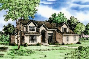 Traditional Exterior - Front Elevation Plan #405-102