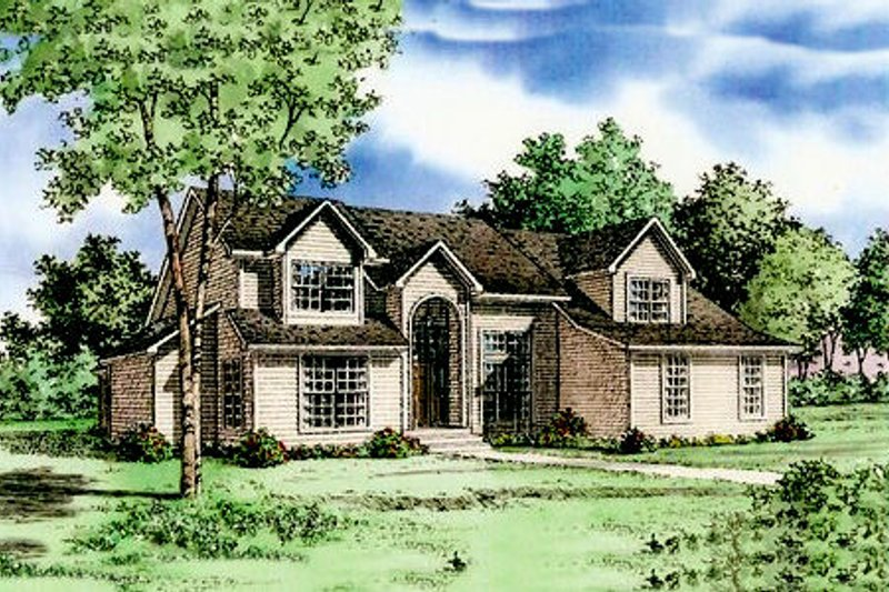 Traditional Style House Plan - 3 Beds 3.5 Baths 3068 Sq/Ft Plan #405-102