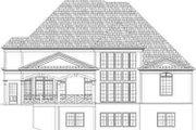 European Style House Plan - 4 Beds 4 Baths 3363 Sq/Ft Plan #119-238 Exterior - Rear Elevation