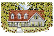 Architectural House Design - Country Exterior - Front Elevation Plan #42-598