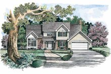 Home Plan - Colonial Exterior - Front Elevation Plan #316-142