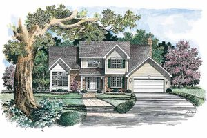 Colonial Exterior - Front Elevation Plan #316-142