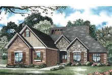 European Exterior - Front Elevation Plan #17-3330