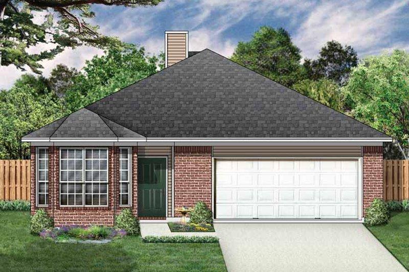 Ranch Exterior - Front Elevation Plan #84-664 - Houseplans.com