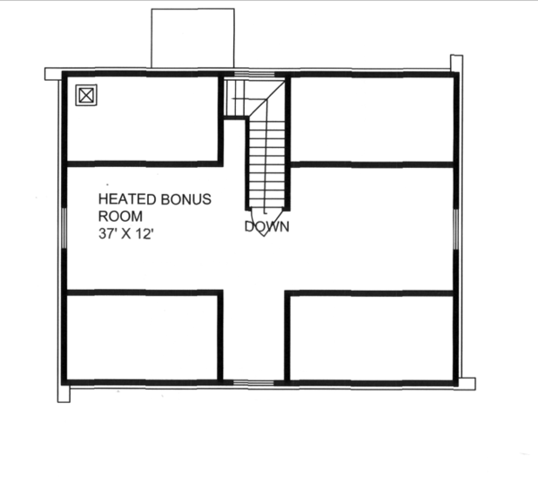 Log Floor Plan - Upper Floor Plan Plan #117-824