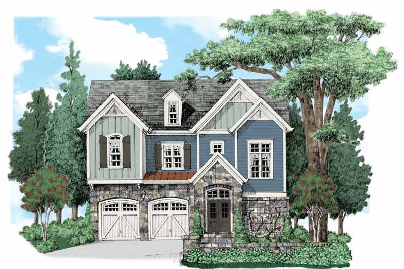 Traditional Exterior - Front Elevation Plan #927-539