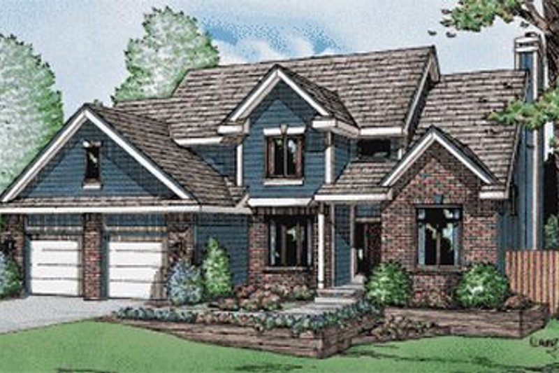 Traditional Exterior - Front Elevation Plan #20-749 - Houseplans.com